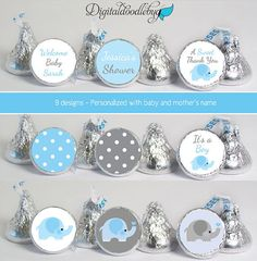 baby shower favors stickers for mini candy by digitaldoodlebug