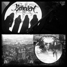 Behexen/Satanic Warmaster split picturedisc. The eyes of the werwolf  burn. The rituals end in oblivion.  #behexen #satanicwarmaster #blackmetal #finnishblackmetal #satanicblackmetal #finland #vinyl  #vinyljunkie #metalvinyl #metalradio #kexp #picturedisc #nowspinning by seekanddestroy_kexp
