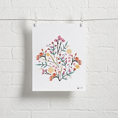 Shop Burst Wall Art.  The best part of this floral wall art from Little Low design is the bright colorful bouquet featuring a bunch of vibrant flowers.  The second best part is the fact that it needs no to water or sunlight to bloom.