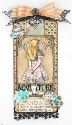 Scrap, Travel, and Bark!: Embellishments, Trinkets and Trims Frilly and Funkie Challenge Altered Books, Altered Art, Scrapbook Examples, Diy And Crafts, Paper Crafts, Shiva, White Rabbits, Scrapbook Albums, Scrapbooking