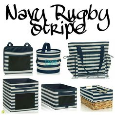 Navy Rugby Stripe