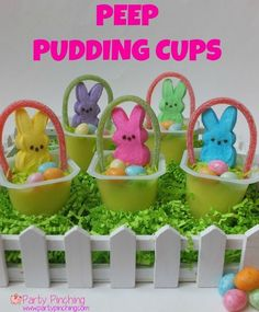 Easter Peep Pudding Cup tutorial