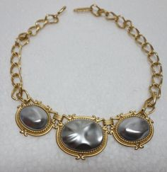 YSL Yves Saint Laurent Gray Mabe Pearl Gilt by Vintageables