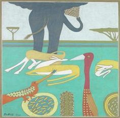 Elephant and other animals - Walter Battiss