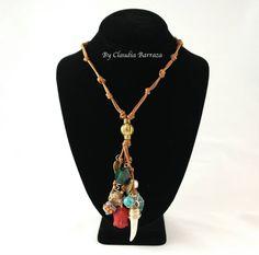 Urban Jewelry, Diy Jewelry, Fashion Jewelry, Jewellery, Bijoux Diy, My Princess, Boho Necklace, Leather Jewelry, Pendants