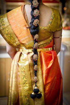 the long dark embellished braid