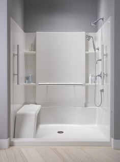 Shower Seat Accord   Shower Stall Not Tile (hgtv)