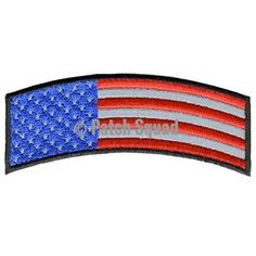 Velcro American Flag Rocker Embroidered Patch (Red,White, Blue) - By Patch Squad