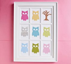 Easy-to-Make Wall Art - I have a friend that loves owls....she would flip out over this!