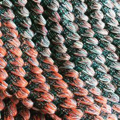 Double deflected weave; scarf in lambswool available on Etsy @VeronicaWEAVES www.veronicapock.com