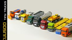 LEGO set database: Cuusoo of the Week: Tiny Trucks by Robiwan and two clarifications on Cuusoo Lego Cars, Lego Plane, Lego Truck, Lego Design, Lego Technic, Legos, Technique Lego, Big Lego, Micro Lego