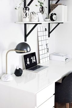west elm - Amy Kim's Black and White Home Office