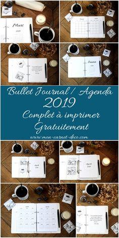Bullet journal et agenda 2019 complet à imprimer gratuitement 1 Organization Bullet Journal, Diy Organisation, Planner Organization, Bujo Planner, Happy Planner, Filofax, Agenda Bullet, Weekly Log, Diy Agenda