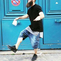 Short saroual battle jeans dcjeans + Jordan éclipse