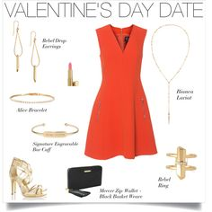 Your perfect Valentine's Day Date Outfit. Red & gold are always in style. www.stelladot.com/kelseywittner