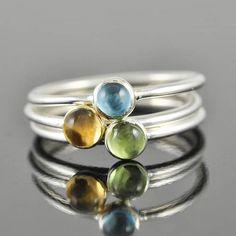 citrine ring gemstone ring stacking ring november by JubileJewel, $35.00