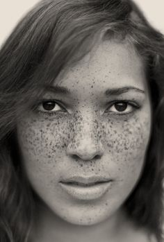 """""""I've always liked freckles,"""" he says, """"but working on shoots over the years, I noticed that they usually get covered with makeup or digitally removed in post-production. So I decided to celebrate the spots rather than erase them."""" The resulting project, a limited-edition tome of black-and-white portraits called """"Freckles,"""""""