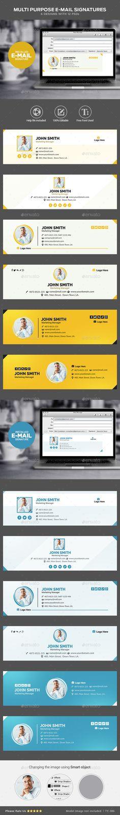 Multi Purpose Email Signature Templates