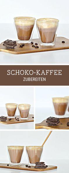 Leckere Rzeptidee fürs Frühstück: Kaffee mit echter Schokolade / chocolate coffee: recipe idea for coffee lovers via DaWanda.com