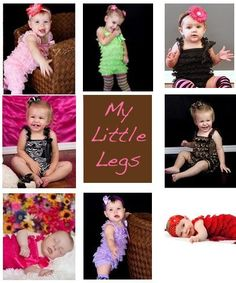 My Little Legs Lace & Satin Petti Rompers for babies & toddler girls