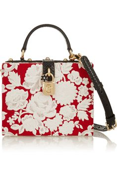 Dolce & Gabbana | Box watersnake-trimmed embroidered cady tote | NET-A-PORTER.COM