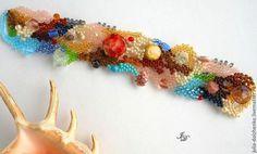 Браслеты ручной работы. Ярмарка Мастеров - ручная работа. Купить Браслет На дне морском.... Handmade. Разноцветный, яркий браслет