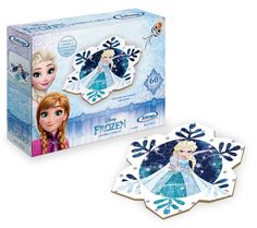 1921.0 - Quebra-Cabeça 60 peças Frozen Disney | Com peças em madeira reflorestada. | Faixa etária: + 4 anos | Medidas: 24 x 5 x 18 cm | Licenciados | Xalingo Brinquedos | Crianças