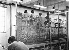 Workers at the Tai Ping carpet factory in Hong Kong.