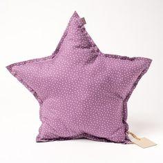 Coussin étoile parme Numero74 mini étoiles