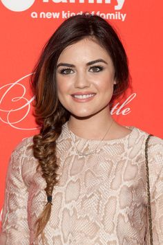 We Can't Wait to DIY Lucy Hale's Side Braid