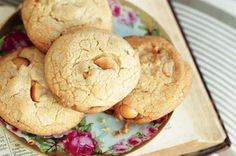 White chocolate and macadamia cookies http://www.taste.com.au/recipes/23237/white+chocolate+and+macadamia+cookies
