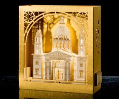 Budapest St. Stephen's Basilica Paper Souvenir / Architecture / Pop up Paper Card/  Hungary / Art /  Paper Model / Masterpieces