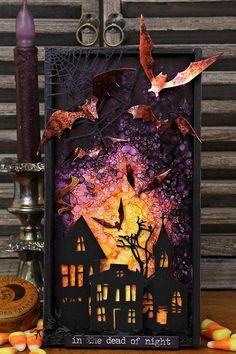 Photo Halloween, Halloween Shadow Box, Halloween Tags, Halloween Quotes, Fall Halloween, Happy Halloween, Halloween Paper Crafts, Halloween Projects, Halloween Decorations