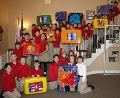 Students Donate Decorated Suitcases to Foster Children - Falls Church News-Press Online New Press, Church News, Falls Church, Foster Care, Custom Paint, Cool Things To Make, The Fosters, Thrifting, Repurposed