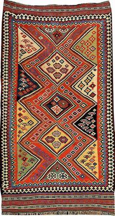 Qashqai 'Kilim', South Persia Fars-Area, late 19th century, wool/wool, approx. 305 x 177 cm