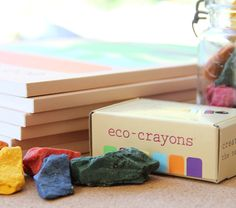 eco-crayons for eco-kids