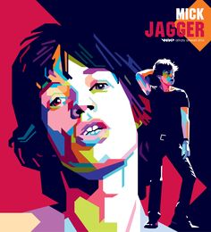 Mick Jagger wpap by difrats