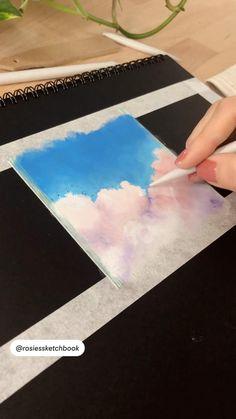 Chalk Pastel Art, Pastel Artwork, Oil Pastel Paintings, Oil Pastel Art, Oil Pastels, Watercolor Art Lessons, Watercolor Painting Tutorials, Painting Videos, Oil Pastel Drawings Easy