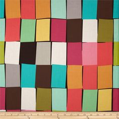 Michael Miller Paint Chips Sorbet from @fabricdotcom  Designed by Mark Hordyszynski for Michael Miller, this cotton print fabric is perfect for quilting, apparel and home decor accents. Colors include black, coral, green, blue, pink, brown and grey.