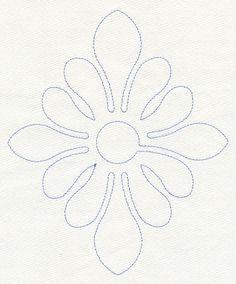 Feather Quilting Diamond Blossom (Single Run)