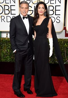 The All-Time Best Couple Style at the Golden Globes - GEORGE AND AMAL CLOONEY, 2015  - from InStyle.com