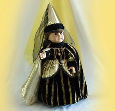 Renaissance Faire Queen 18 inch Doll Costume Black by FocusonColor, $115.00