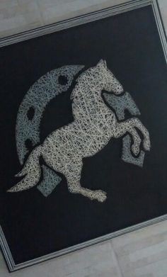 String Art Horse/Cavalo - My first. By: Thales Pereira