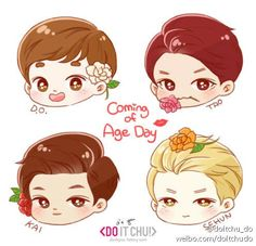 Kai d.o sehun tao coming of age day (cr: do it chu!)