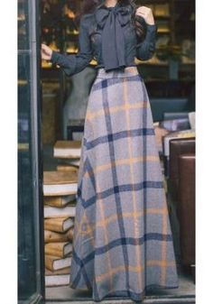 Looking for a perfect fall set? Melissa is a unique and modest set featuring a woven sleeveless maxi dress in rust and a matching navy bowknot vintage style top. This set is available in S-L and is definitely a unique pick! Modest Outfits, Skirt Outfits, Modest Fashion, Hijab Fashion, Dress Skirt, Fashion Dresses, Cute Outfits, Maxi Dresses, Swag Dress