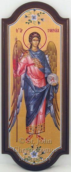 Gold Backgrounds - St. John Chrysostomos Greek Orthodox Monastery Religious Icons, Religious Art, Monastery Icons, Paint Icon, Angel Warrior, Archangel Michael, Gold Background, Icon Collection, Orthodox Icons