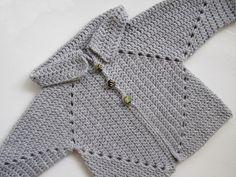 Sue's No Hole's Hexagon Baby Sweater Free Crochet Pattern