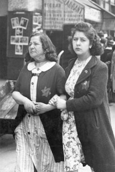 Two Jewish women in Nazi-occupied Paris prior to the mass arrests throughout the Jewish community by the French police on 16-17 July 1942.