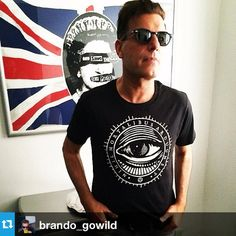 Our beloved music producer Brando with our Mysitc eye tee!  www.coreterno.com