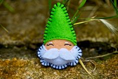 Felt Brooch - Mr Gnome on Etsy Unavailable Felt Christmas Decorations, Felt Christmas Ornaments, Christmas Gnome, Christmas Makes, Christmas Projects, Felted Wool Crafts, Felt Crafts, Felt Brooch, Felt Patterns